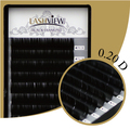 LashView Brand New High Quality .20mm Thickness D Curl Mix Size 8/10/12/14mm Salon Lashes Eyelash Extensions
