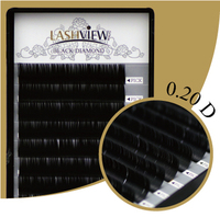 LashView Brand New High Quality 20mm Thickness D Curl Mix Size 8 10 12 14mm Salon