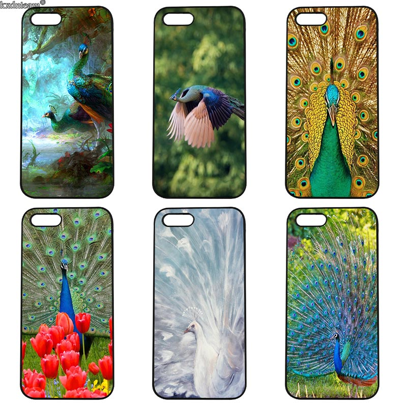Pretty Peacock Scenery Mobile Phone Case Hard PC Cover Fitted for iphone 8 7 6 6S Plus X 5S 5C 5 SE 4 4S iPod Touch 4 5 6 Shell