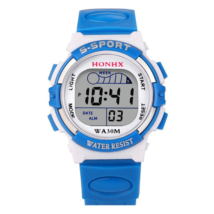 Waterproof Children Sport Watch Boy Digital Led Quartz Alarm Date Sports Wrist Watch Relogio Infantil Relogio Menino Hot Sale #5