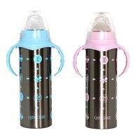 Garrafa térmica do bebê isolamento copo garrafas de alimentação para leite de água copos de aço inoxidável temperatura mais quente para recém nascido|feeding bottle|baby bottlebottles for -