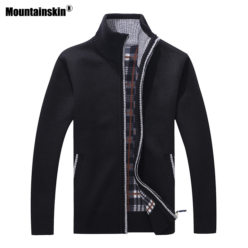 Mountainskin New Men's Sweaters Autumn Winter Warm Pullover Thick Cardigan Coats Mens Brand Clothing Male Casual Knitwear SA582 5