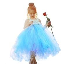 Dusty Blue Kids Wedding Dresses Toddler Tutu Party Dresses for 8 Year Old Girls Pearl Flower Girl Dress Christmas Autumn Clothes belle dress is 5 short for a 12 year old dresses girls kids 10 yearsteenage girl kids prom dresses short wedding evening dresses