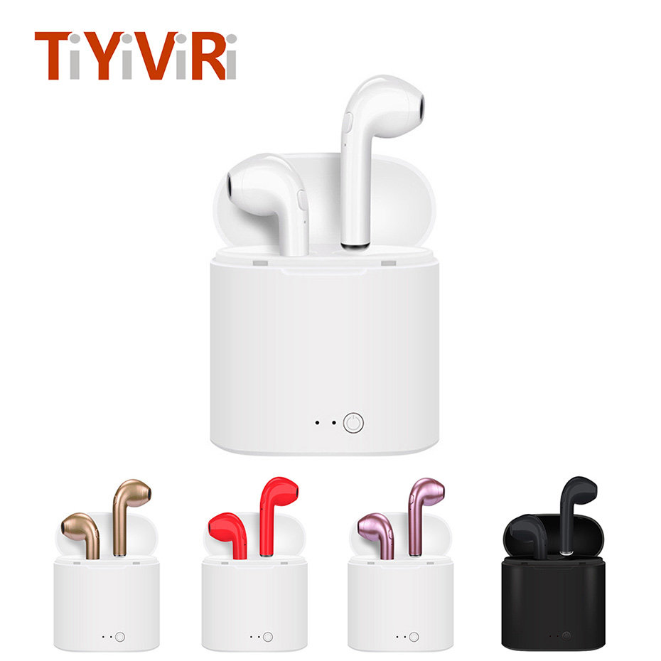 Mini Wireless Bluetooth 4.2 Earphone For Mobile Phone In-Ear With Charging Box For Music Sport Noise Cancelling With Microphone raxfly earphone for iphone xiaomi samsung huawei 3 5mm mobile phone in ear clear music earphone noise cancel earbud microphone