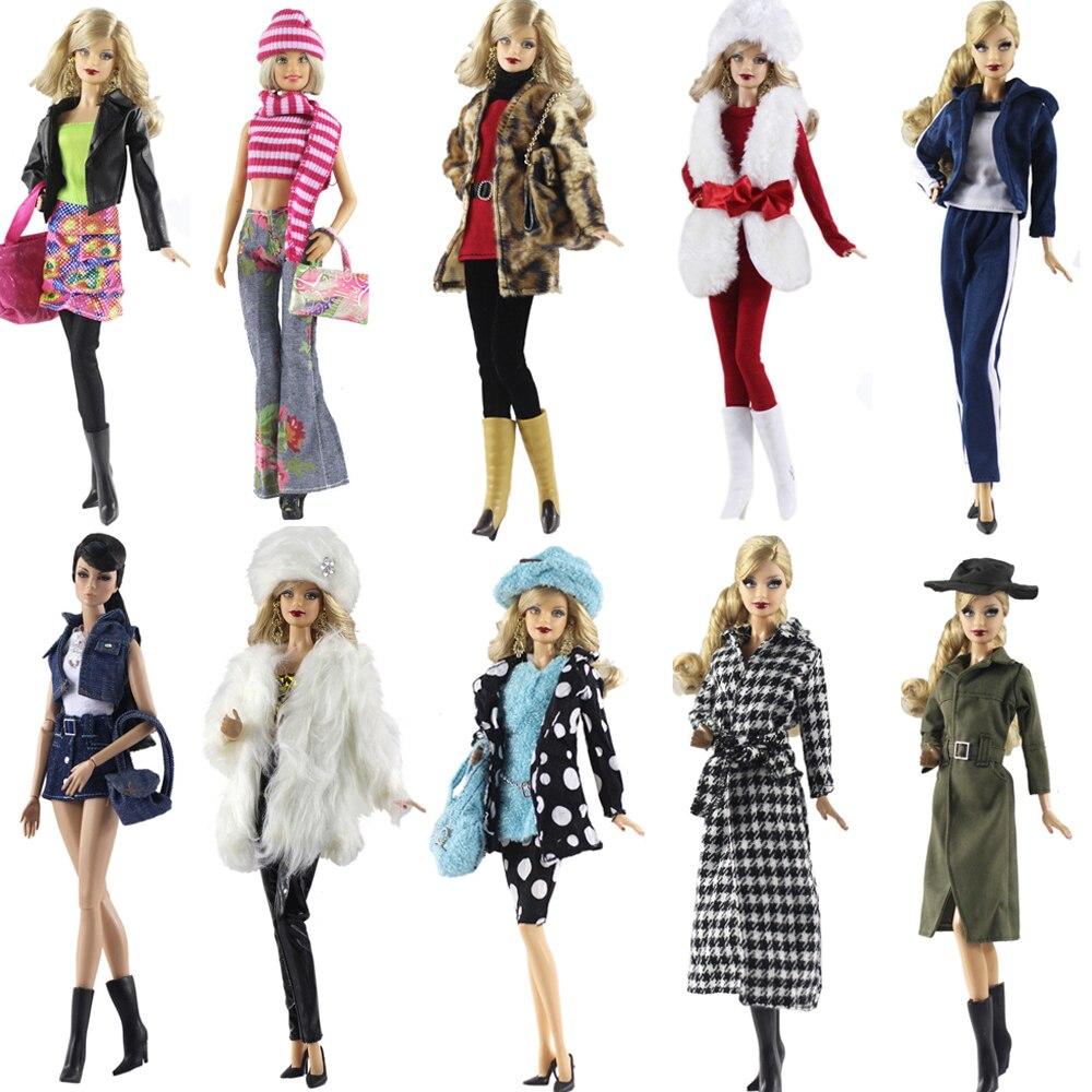 Нк 2 компл./лот оригинальные одежды куклы ручной работы наряд партия мода платье на заказ fit maxiskit для barbie оригинальные куклы