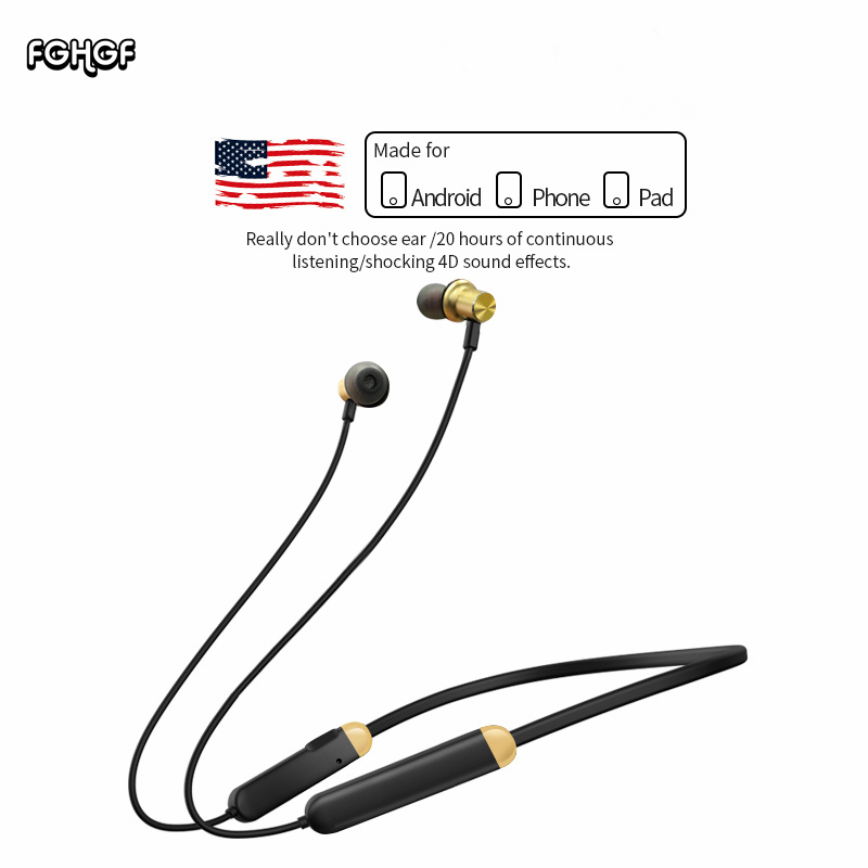 Sports Bluetooth headset running fitness in-ear wireless bluetooth earphone earbuds suitable for iphone Android phone fashion wireless bluetooth 4 2 stereo sports in ear earbuds magnetic headset with microphone for android samrtphone