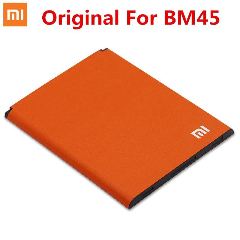 100% Original xiaomi bm45 batería para xiaomi Redmi nota 2 Batería móvil BM45 3020 MAH para xiaomi RedMi nota 2 rojo arroz Hongmi