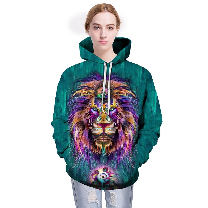 Hot Sale Brand Hoodies Lion 3D Sweatshirts Men Tracksuits Fashion Pullover Animal Boy Jackets Unisex Coats Autumn Outwear New