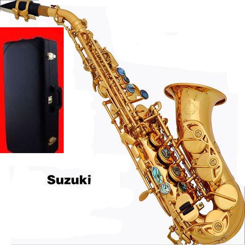 Saxophone courbé haut B plat Saxophone petit Saxophone Soprano adulte enfants vent instruments de musique livraison gratuite saxo Soprano & Hard boxs