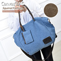 Squirrel fashion canvas women shoulder bags solid high quality vogue large handbags vogue hipster versatile casual tote