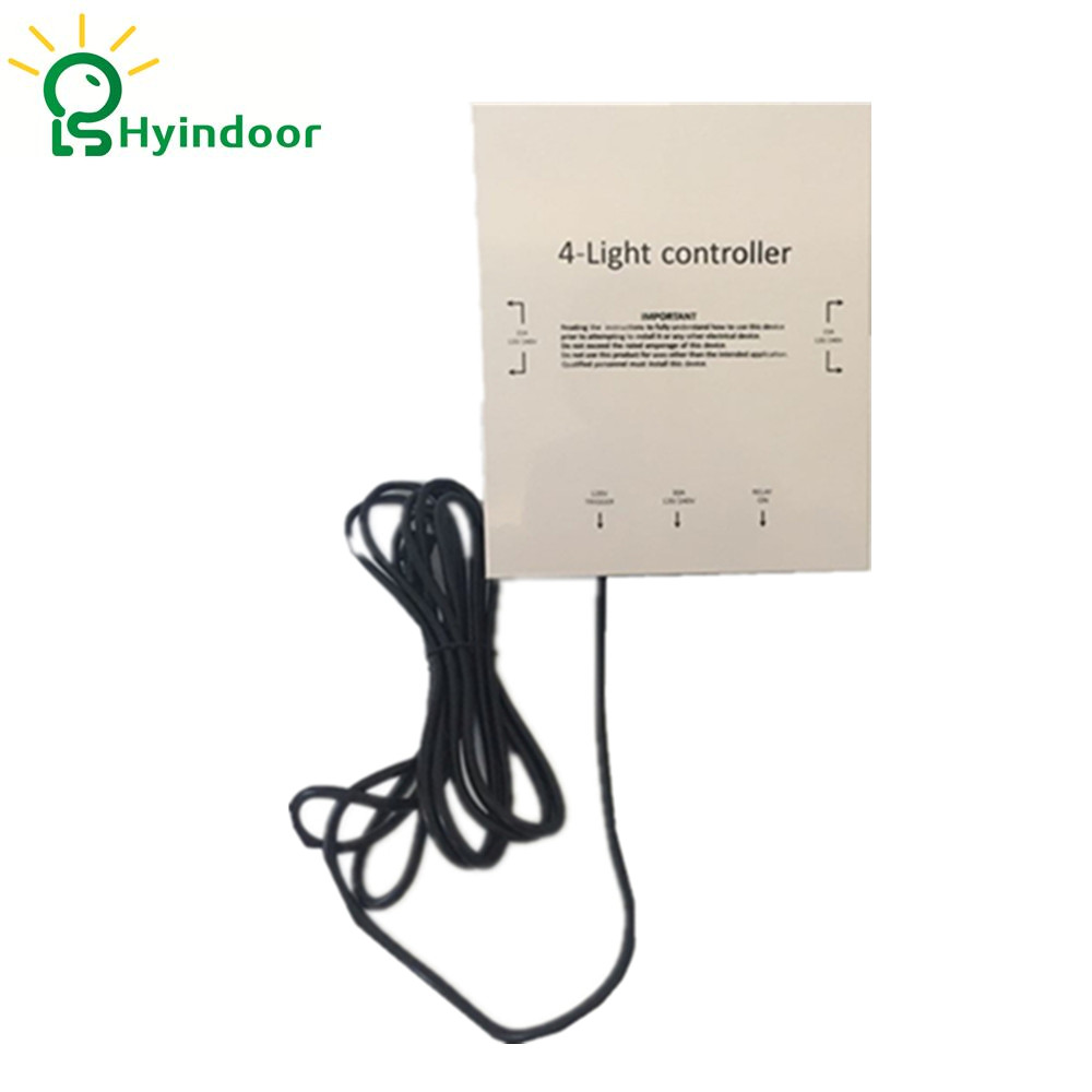 120V USA Standard 4 Outlets Electrical Sockets Grow Lights Controller Contactor