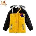 Monkids Дети Пальто Мода Ветровки Мальчики Пальто Куртки детская Одежда Мальчиков Зимняя Куртка Верхняя Одежда Пальто Зимняя Куртка для Мальчика