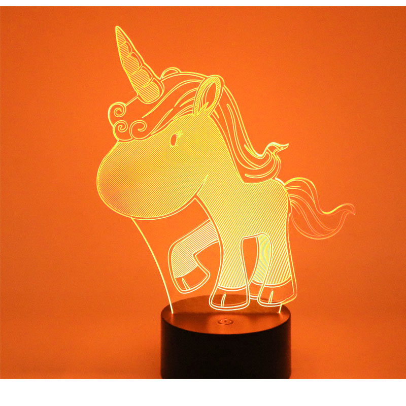 3D LED Night Light Young Unicorn with 7 Colors Light for Home Decoration Lamp Amazing Visualization Optical Illusion Awesome bullough o the last man in russia and the struggle to save a dying nation