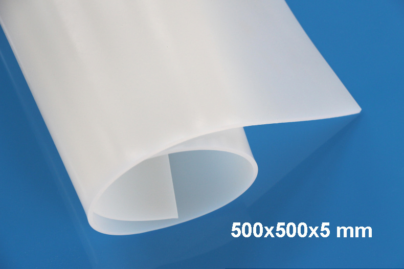 500x500x5mm High Quality Translucent Milky White Silicone