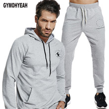 GYMOHYEAH 2018 Herfst Trainingspak Mannen Casual Sets Mannelijke Sweatshirt Lange Mouw Broek Brief Casual Streetwear Pak Fitness kleding