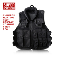 Children Hunting Military Tactical Army Vest Kids Airsoft Gear Combat Armor Uniform Baby Boy Girl CS Swat Police Outdoor Costume