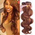 Brasileira onda corpo cabelo virgem extensões de cabelo humano cor 30 6A pacotes tecer cabelo brasileiro da onda do corpo brasileiro colorido