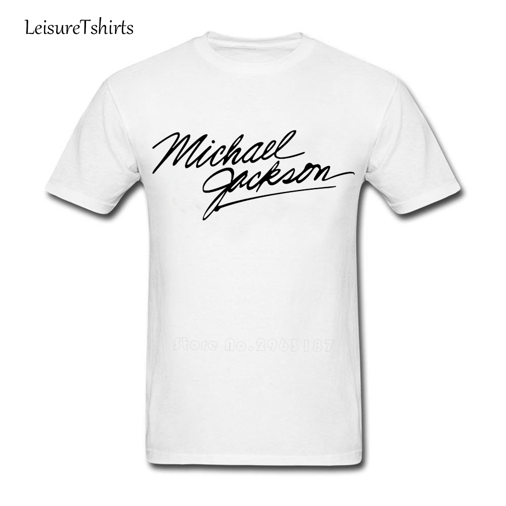 Black t shirt michaels - Michael Jackson T Shirt Adult New Style Simple Style Tee Shirt Great Normal Loose T Shirts Men Short Sleeve Round Neck Club Tee