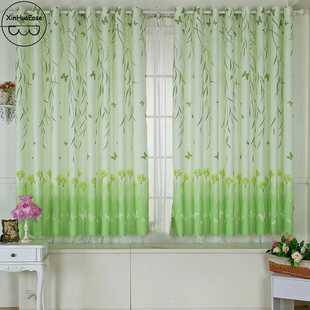 xinhuaease corto cortinas cortinas para la sala de estar dormitorio infantil moderna rideaux puerta cortina de