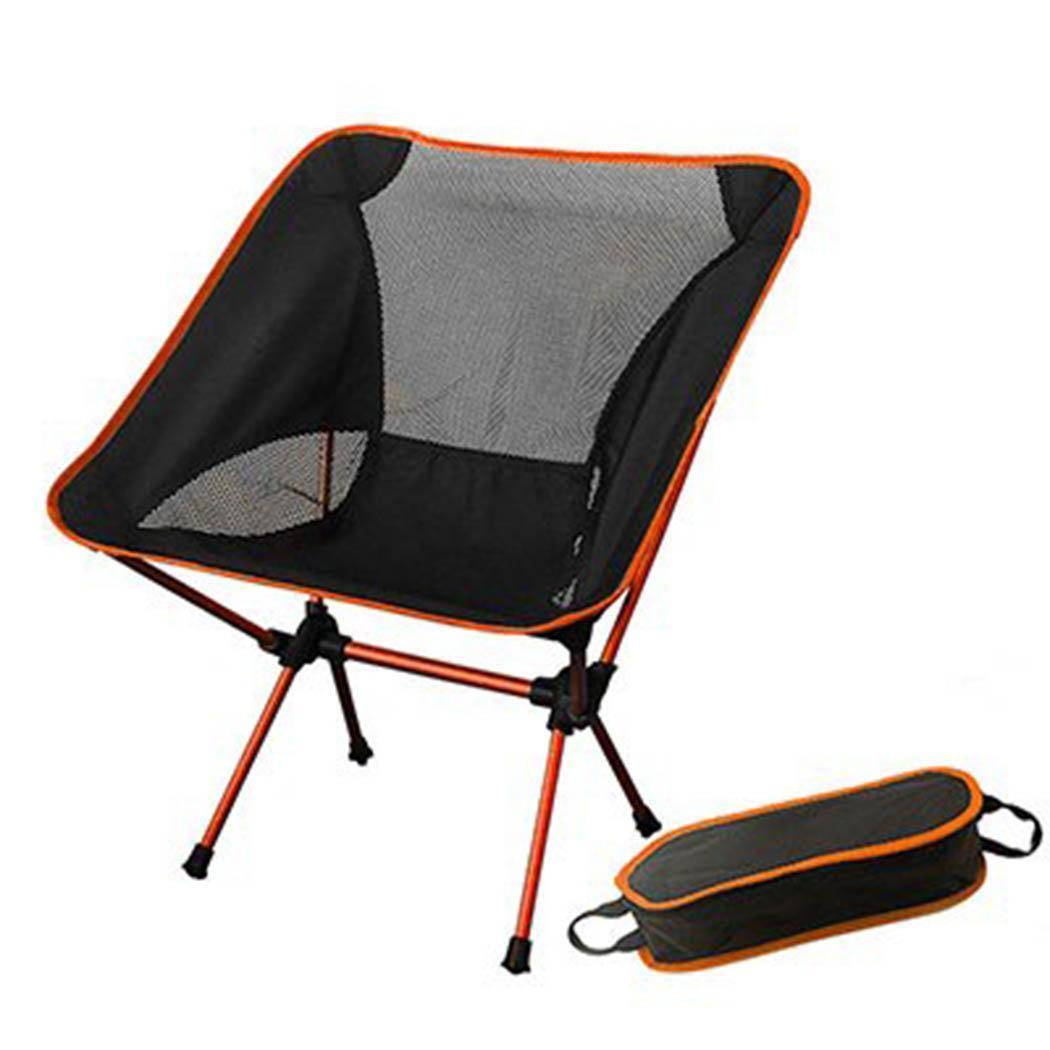 Портативный складной Сверхлегкий кресла для отдыха на природе пляжное кресло рыболовное Кресло алюминиевый сплав стул повседневное - Цвет: orange