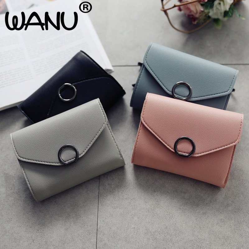 Women Mini Wallets Female Short Money Wallets PU Leather Lady Zipper Coin Purses Fashion Card Holders Teenage Bag Korean Style