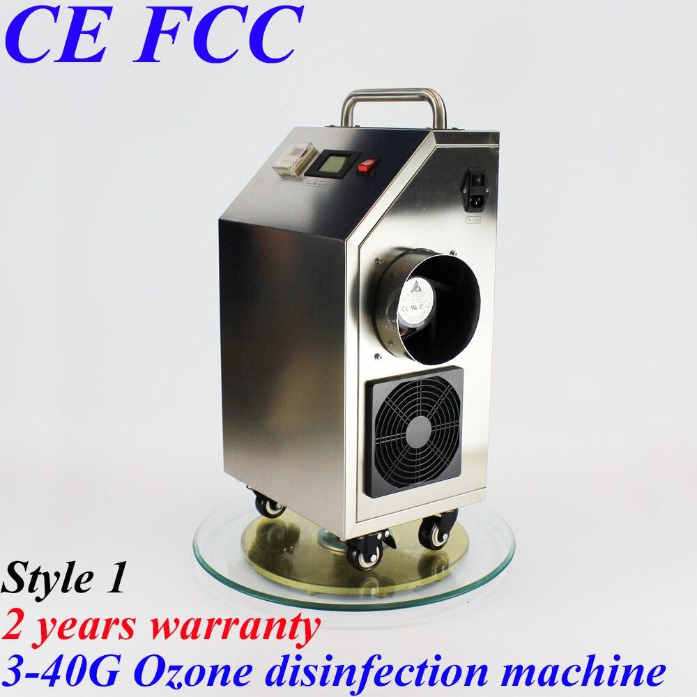 Pinuslongaeva CE EMC LVD FCC 40 g/h 40 gramme coque en acier inoxydable machine de désinfection d'ozone purification de l'air et désodorisation