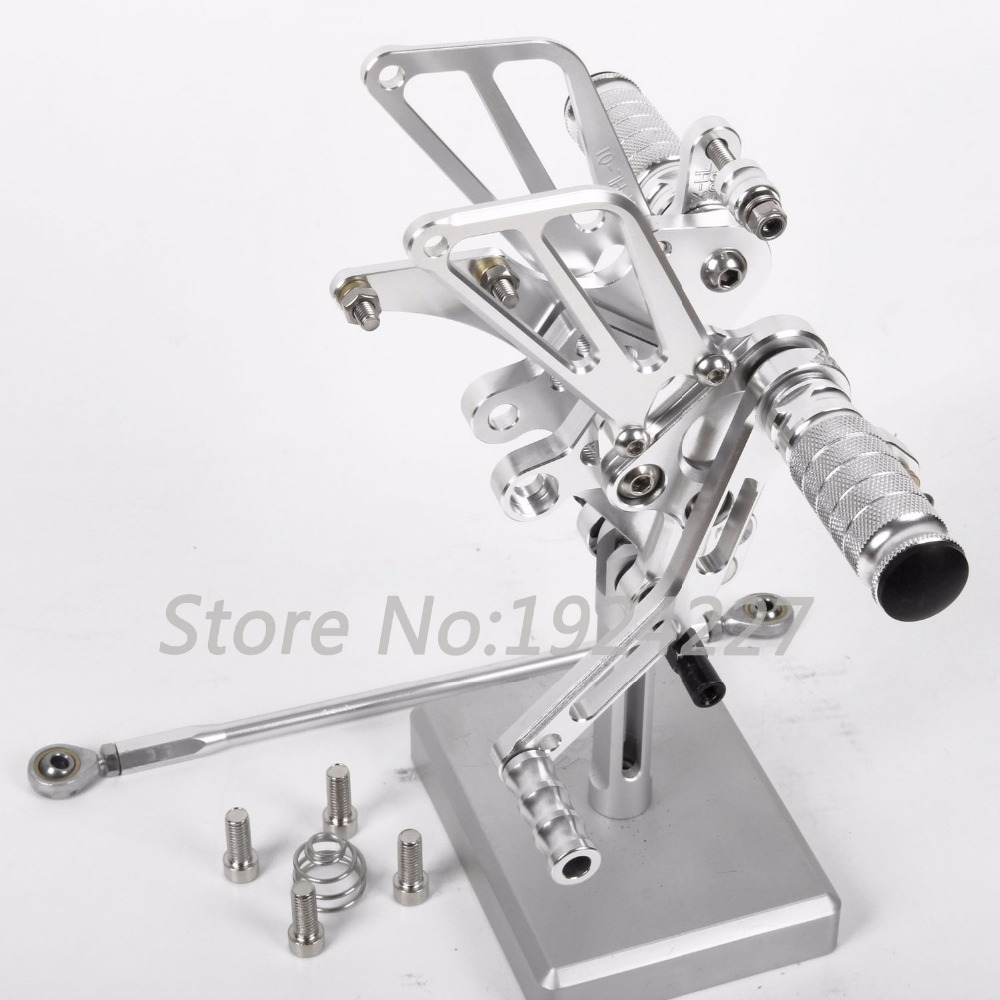 For Benelli BJ600GS 2010-2013 High-quality Motorcycle Footrest Adjustable Foot Pegs Rear Hot Sale Motorcycle Foot Pegs Silver