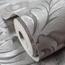 Luxury Modern Metallic Damask Vinyl Wallpaper Wall Paper Bedroom Living Room Wallpapers Roll Silver Grey,Black,Red,Brown