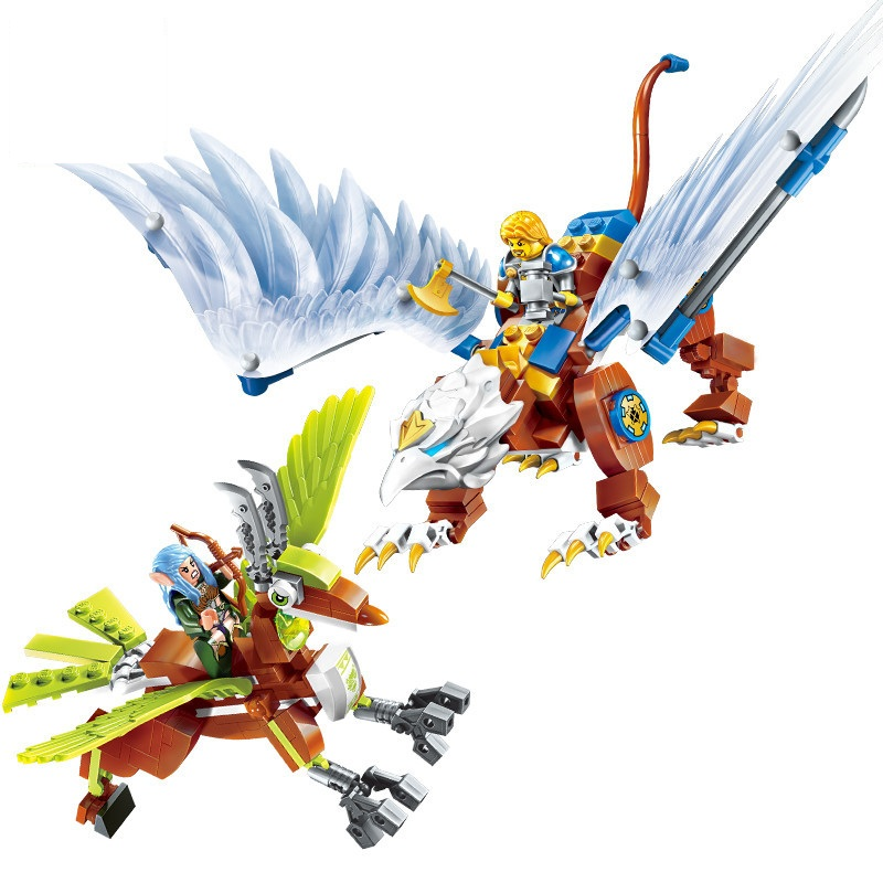 Enlighten Knight Nexo King The Air War Of Castle Dragon Building Blocks Brick Model Gift Kids Toys Compatible Legoings castle and knight