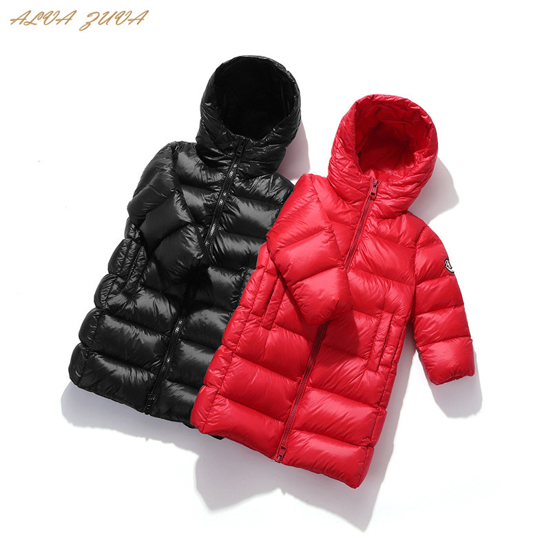 Children Winter Down Jacket 2018 Kids Outerwear Coats For Boys Girls Thicken Warm Parkas Coat Long-Style Cyy345 2015 new hot winter thicken warm woman down jacket coat parkas outerwear hooded splice mid long plus size 3xxxl luxury cold