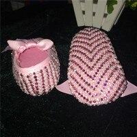 Pure White Christening Cute Pearls Custom Made DIY Prewalkers Inspired Wedding New Born Footwear Princess Little