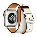 Новейший офисный кожаный ремешок для Apple Watch Series 4  ремешок из натуральной кожи для Apple Watch 1  2  3  одиночный Тур ремешок для часов