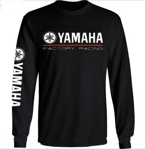 59cd5f503eb 2018 nueva llegada YAMAHA manga larga hombres camiseta Suzuki motocicleta Cool  Camiseta cuello redondo Camisetas otoño