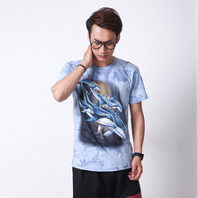 The dolphins 2016 Men 3D T-Shirts Short Sleeve Cotton Rocksir O-Neck Personalized Tshirt 3D Water Printed T Shirt Man Hot sale