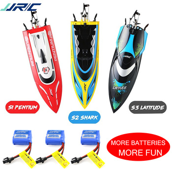 JJRC S1 S2 S3 S4 High Speed RC boat Self-Righting Speedboat Remote Control Ship 25Km/h Racing Water Cooling Boat for Pools Lakes