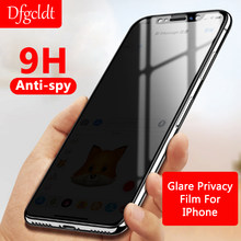 9H Anti-Spy tam kapak ekran koruyucu anti-parlama gizlilik filmi iPhone X XS Max XR temperli cam iPhone 6 6S 7 8 artı(China)