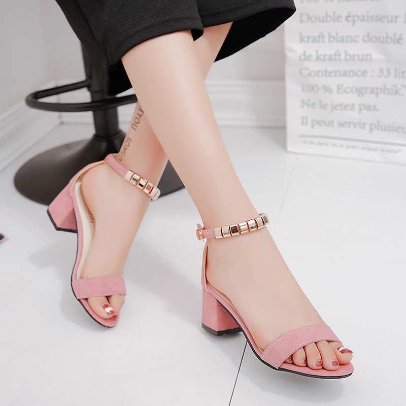 Summer Women Shoes Pumps Dress Shoes High Heels Boat Shoes Wedding Shoes Tenis Feminino Peep Toe Flock Sandals