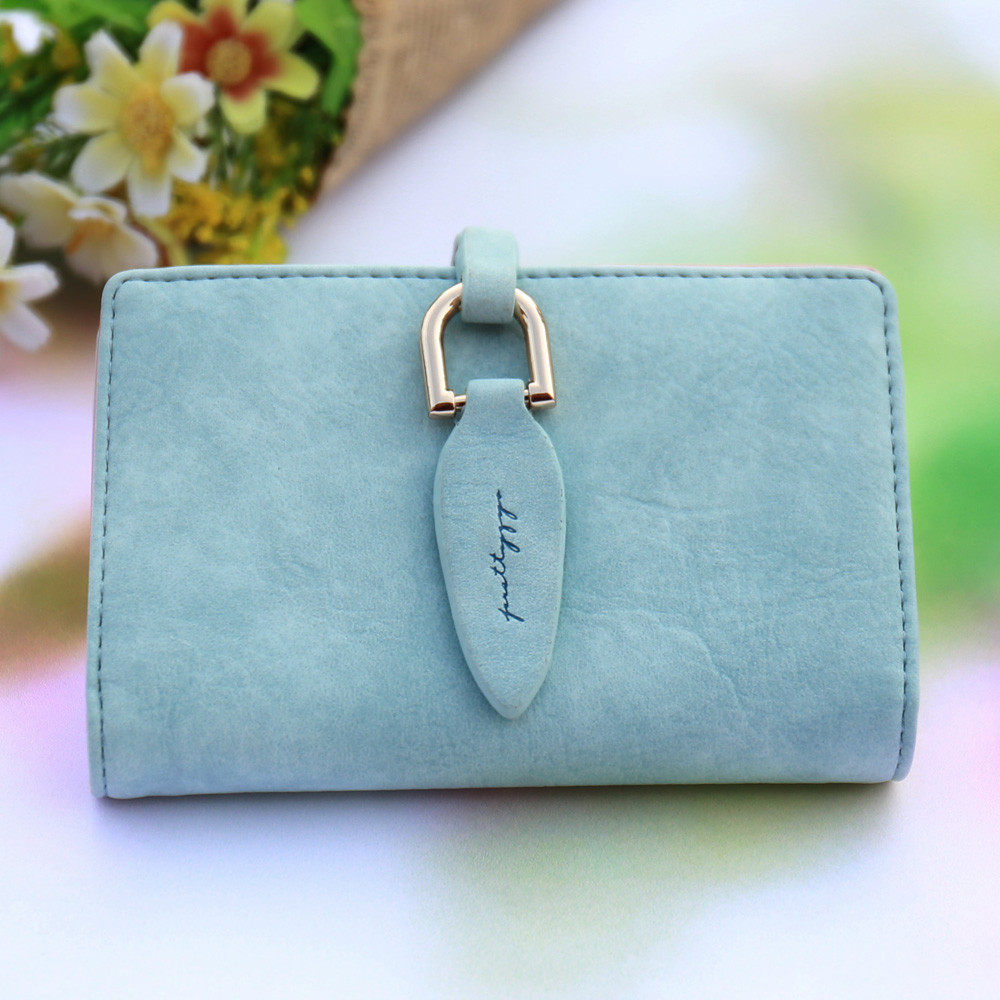 Women's Wallets 2018 Fashion Simple Solid Short Wallet Female Bag Ladies Vintage Card Holder Billfold Purse PU Leather 10Aug 14 pu leather short purse call of duty mac v sog new fashion anime cartoon wallet billfold with cards photo holder
