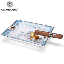 CIGARLOONG New Arrival High Quality Bone Porcelain Ashtray European Ceramic Living Room Portable Cigar CLG-0088