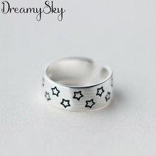 Przesadna osobowość srebrny kolor gwiazda pierścienie dla kobiet biżuteria ślubna regulowany antyczny palec pierścień Anillos