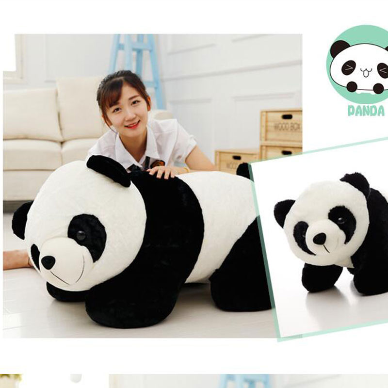 90cm Cute Panda Stuffed And Plush Baby Pillow Toys High Qulity Plush Toy Panda Bear Doll For Children's Christmas Gifts Doll 40cm super cute plush toy panda doll pets panda panda pillow feather cotton as a gift to the children and friends