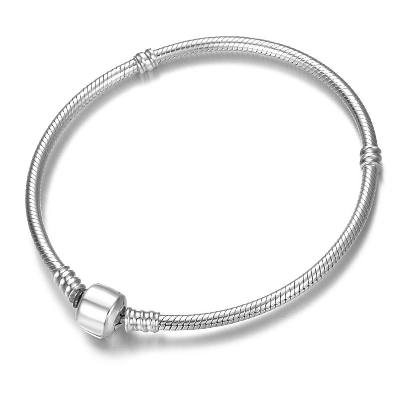 Handmade Really simple fashion Style 925 Sterling Silver Snake handmade basic chain bracelets for women