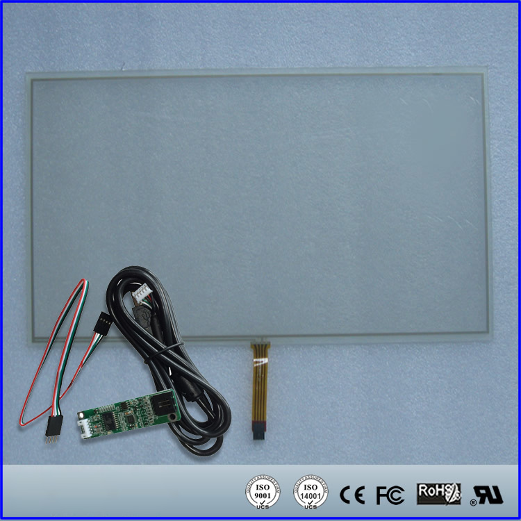 9.7'' inch Resistive Touch Screen Panel 210mmx166mm 4Wire USB Kit for Monitor 98 inch monitor ir touch screen 2 points infrared touch screen panel ir touch screen frame overlay with usb