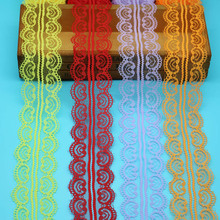 10 yards beautiful lace ribbon 45mm wide embroidered fabric trim DIY clothing sewing decoration process