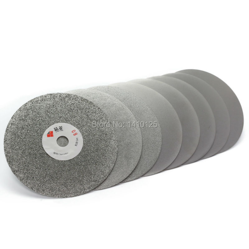 5 colių 125 mm švitrinis 60-3000 galvanizuotas deimantinis šlifavimo diskas, padengtas plokščiu lapų disku, lankiniu įrankiu, brangakmenių papuošalų stiklu