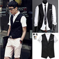 Hot! 2016 New All-match Male Casual Slim Suit Single Breasted Vest Male Vest