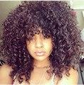 Mais novo Médio Longo afro Kinky Curly peruca peruca Sintética para As Mulheres Negras com cabelo do bebê