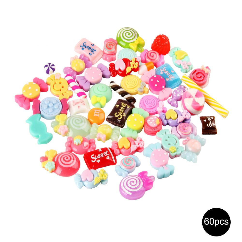 Slime Charms Mixed Silicone Play Children Toys Sweety Beads Slime Sweets Bead Making Supplies DIY Assemble Candy Toys Crafts