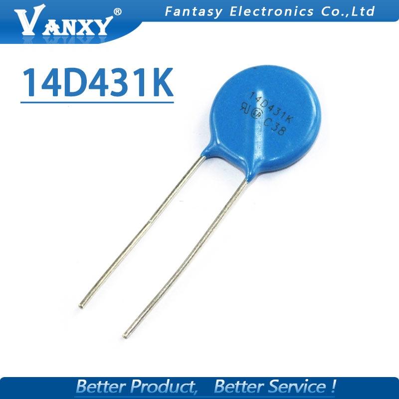 20pcs Varistor 14D431K 430V Piezoresistor 14D431