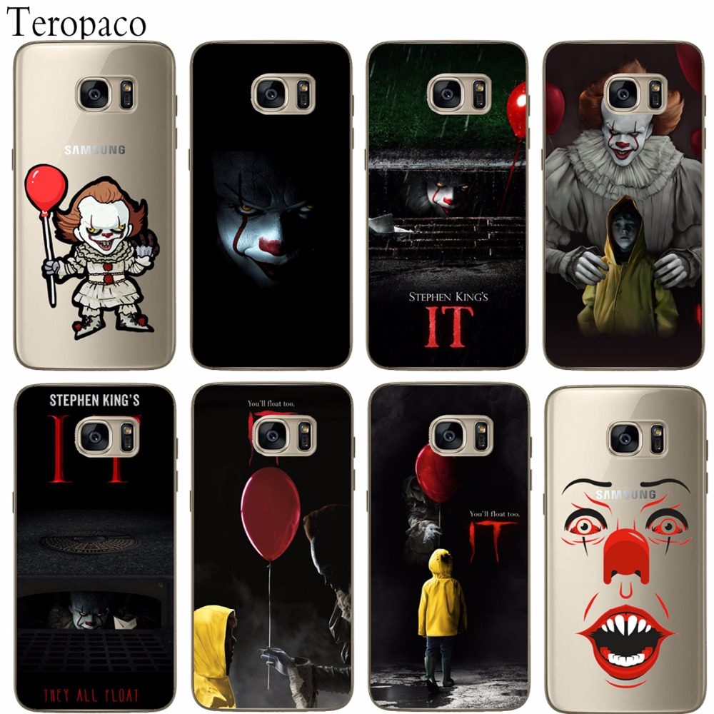 Pennywise Clown Float It Cartoon Comic Horror Soft silicone Phone Case For Samsung S6 S6Edge S7 S7Edge S8 S8Plus A3 A5 A7 10 20